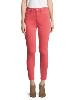 Joe's Jeans Charlie High-rise Skinny Jeans In Hibiscus