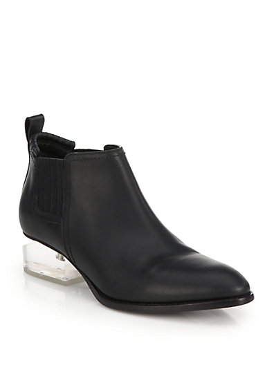 Alexander Wang 'Kori' Cutout Mirror Metal Heel Leather Oxfords In Black