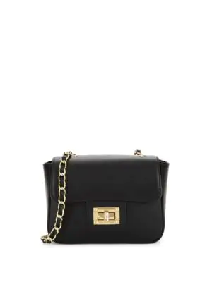 Valentino By Mario Valentino Vivian Leather Crossbody Bag In Black