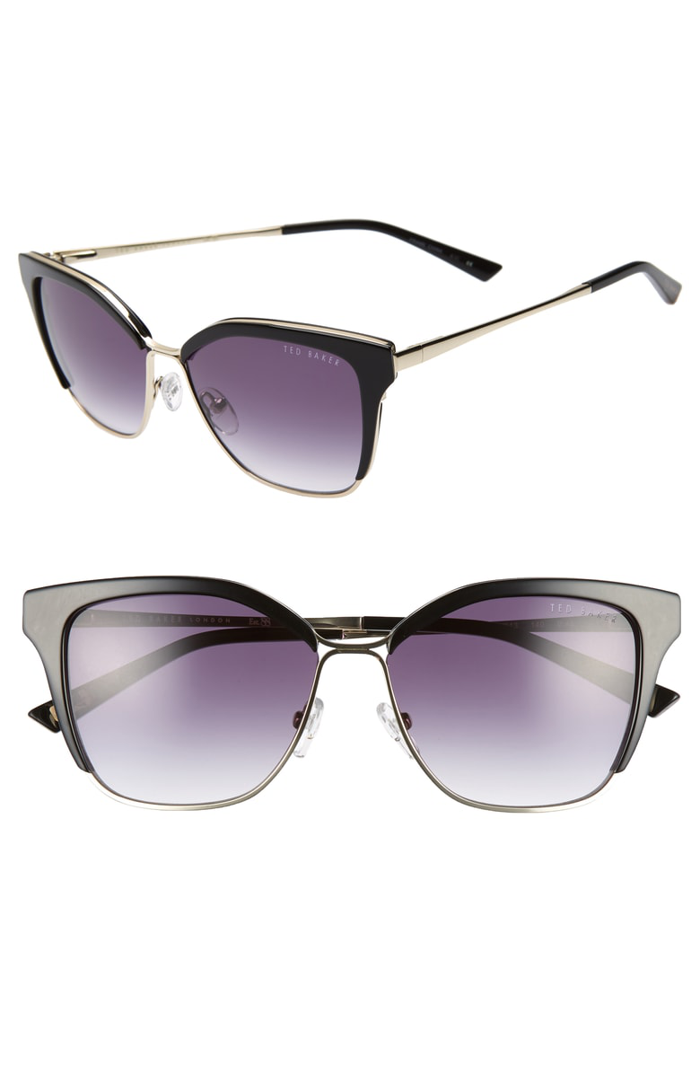 b1af6c0844 ... shades given a hint of a cat-eye silhouette from the bold topline.  Style Name  Ted Baker London 54Mm Gradient Square Sunglasses. Style Number   5759042.