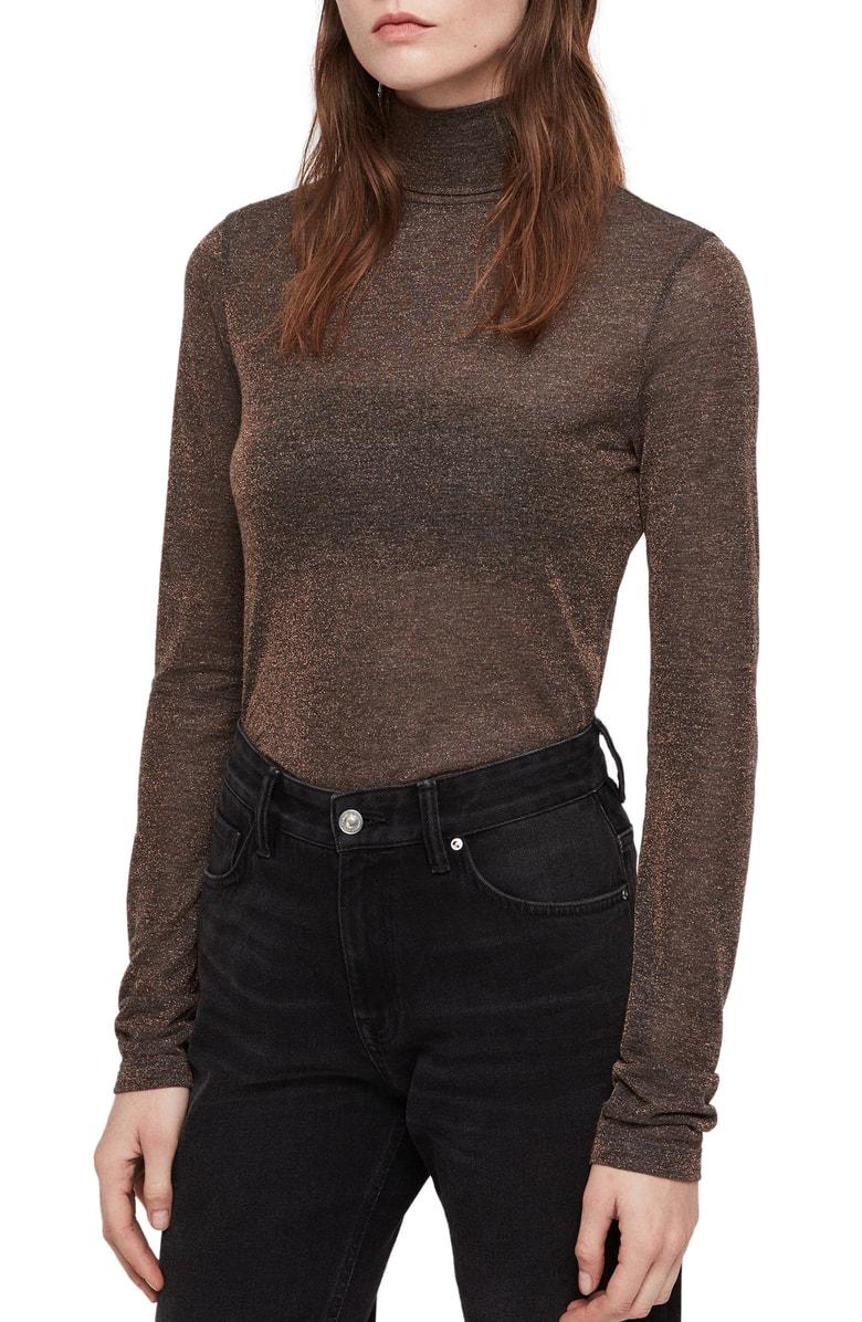 493dd69ad67a Allsaints Esme Turtleneck Sweater In Black   ModeSens