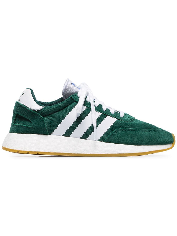 best loved 0dbe7 91056 Adidas Originals Adidas Green And White I-5923 Mesh And Suede Leather  Sneakers