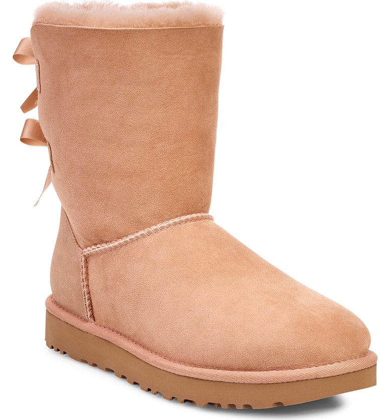 a60a2ccea8a Ugg Bailey Bow Ii Genuine Shearling Boot in Arroyo Suede