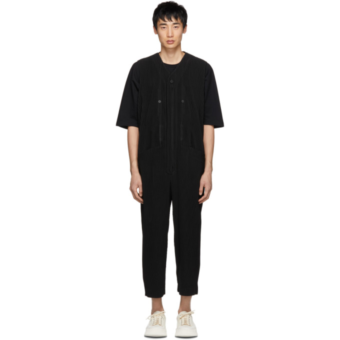 4a51b5549c5 Homme Plisse Issey Miyake Black Bottoms 1 Overalls In 15 Black ...