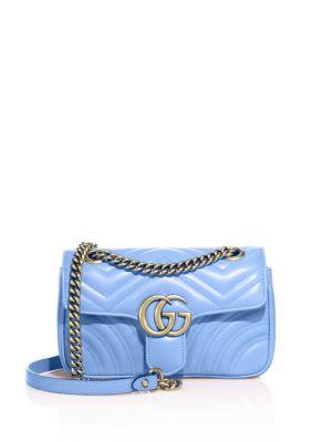 132eaba310c9 Gucci Gg Marmont Mini MatelassÉ Leather Shoulder Bag In Sky Blue ...