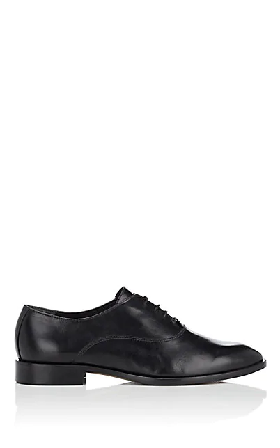 Barneys New York Leather Oxfords In Black