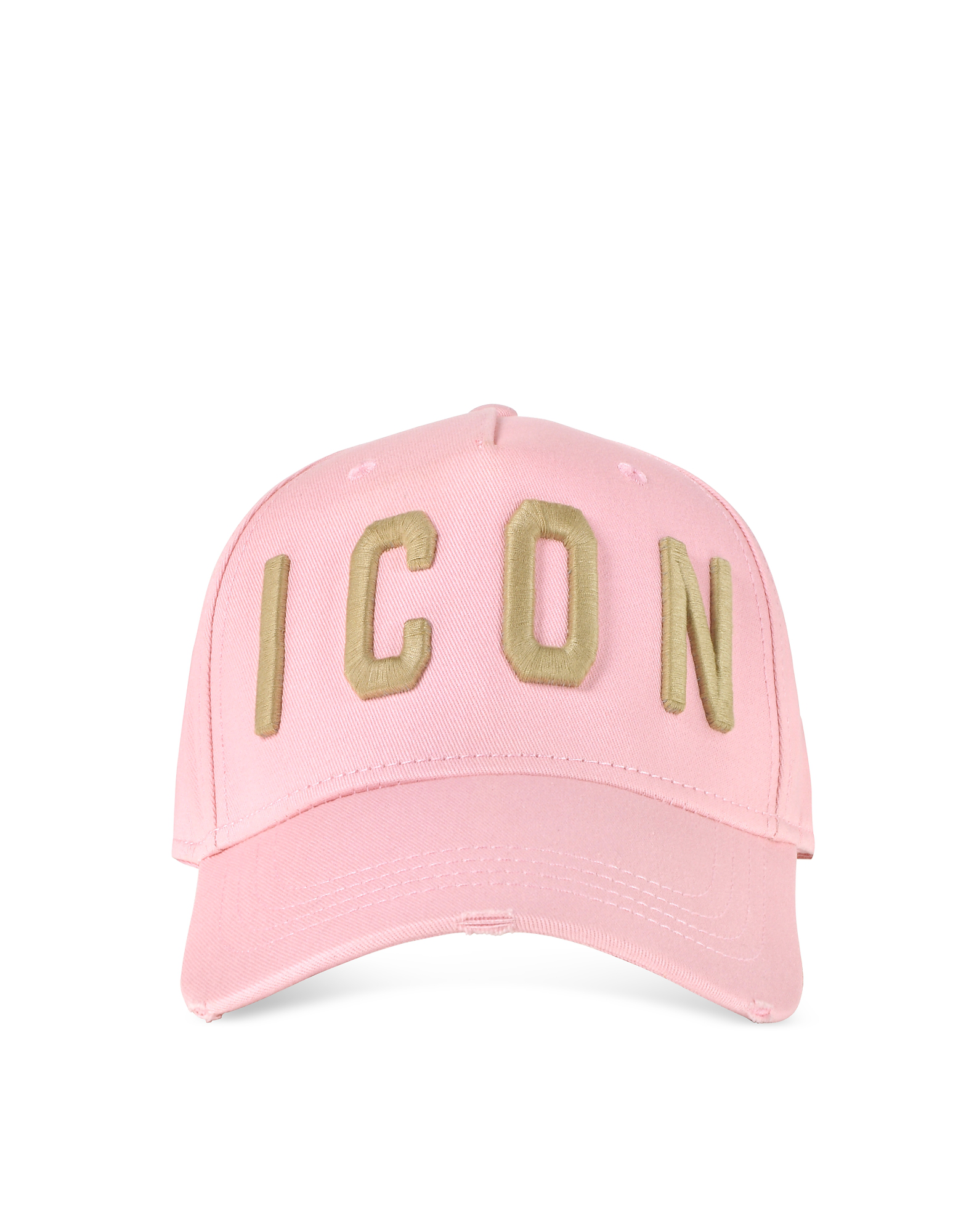 80fea4068 Embroidered Icon Logo Gabardine Baseball Cap in Pink/Gold