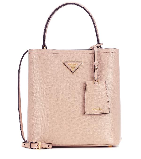 Prada Panier Medium Leather Shoulder Bag In Pink