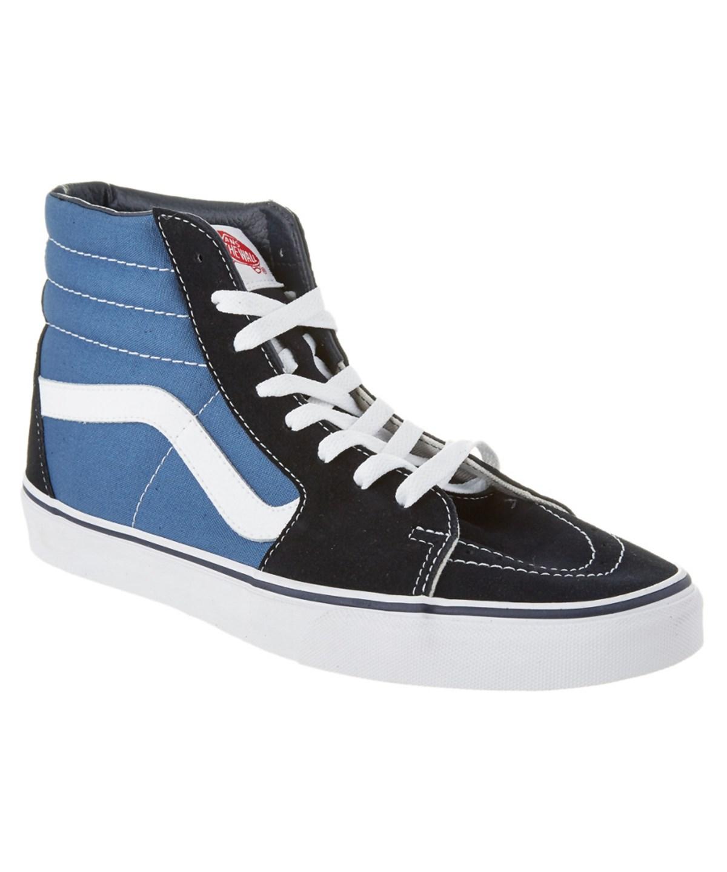 7b261c59c8 Vans Sk8-Hi Women Round Toe Canvas Blue Skate Shoe