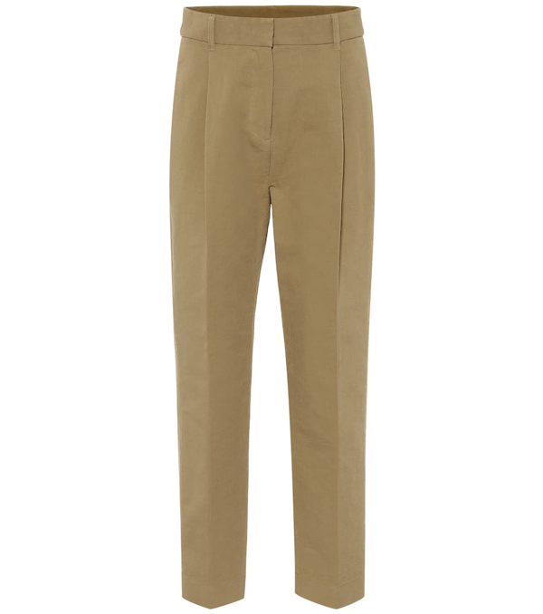 See By Chloé Cropped Twill Straight-leg Pants In Camel
