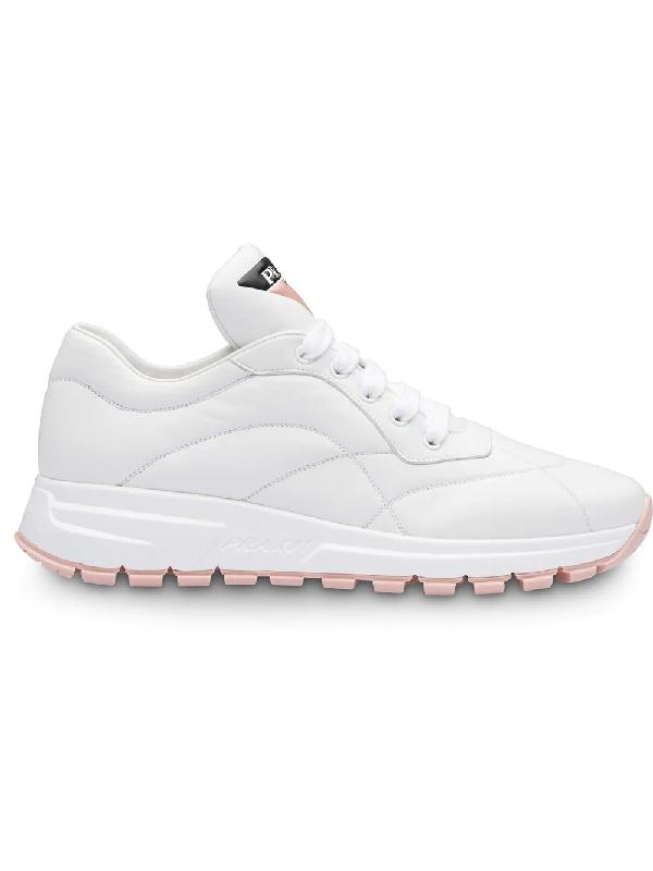 10e07b8092c9fa Prada Prax 01 Leather Sneakers In White | ModeSens