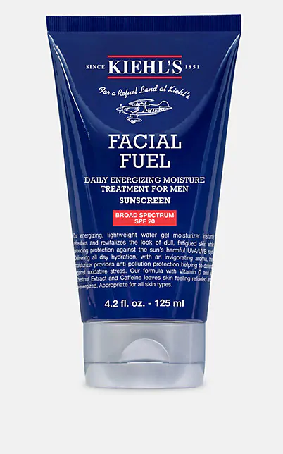 Kiehl's Since 1851 Facial Fuel Daily Energizing Moisture Treatment For Men Spf 20, 4.2 Oz./ 125 Ml In Us