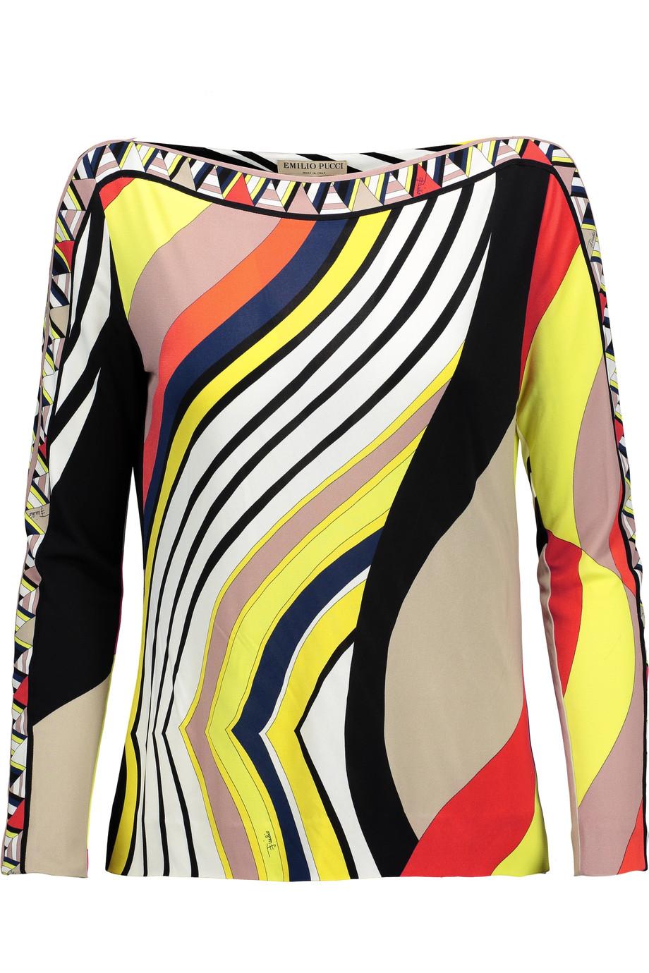 99170ebae188 Emilio Pucci Printed Jersey Top