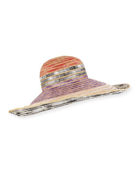 38bce228d Woven Straw Sun Hat in Pink Multi