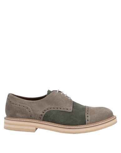 Eleventy Laced Shoes In Dark Green