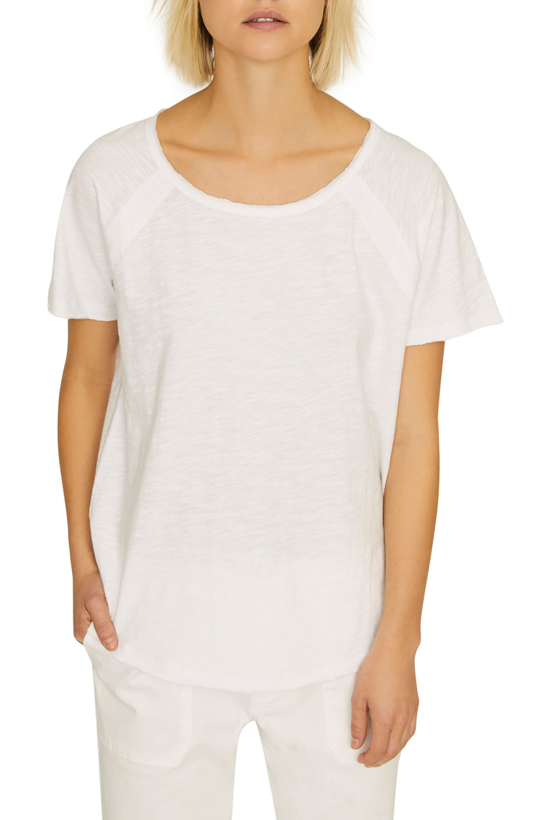 8f69924d8 Beacon Raw Edge Tee in White