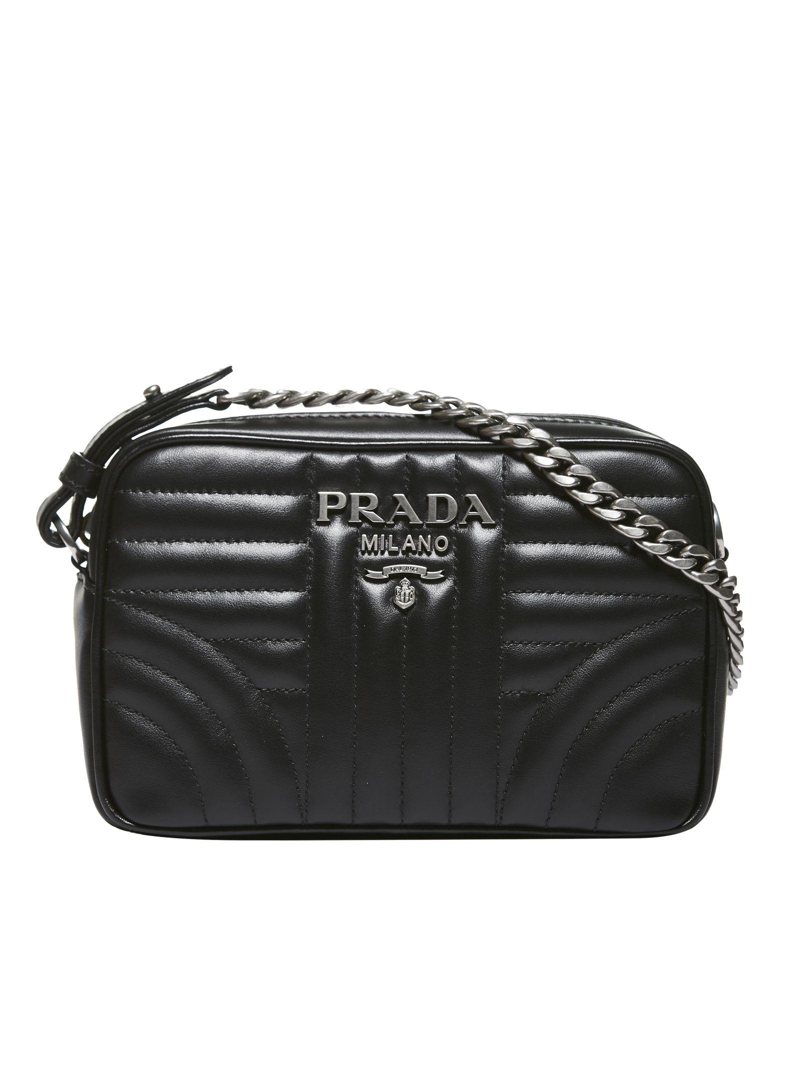 0ad0b1bd1393 Prada Beveled Camera Bag In Nero