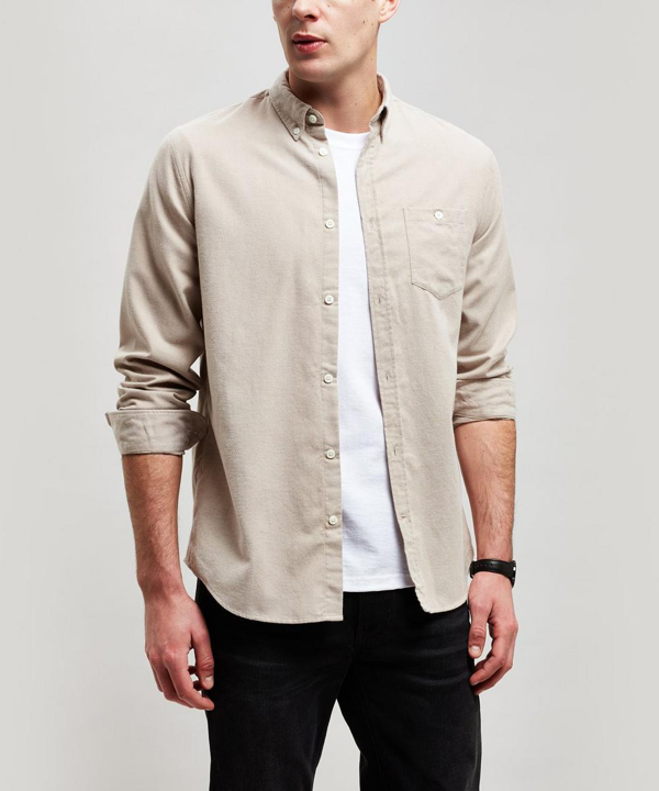 Norse Projects Anton Flannel Pocket Shirt In Khaki