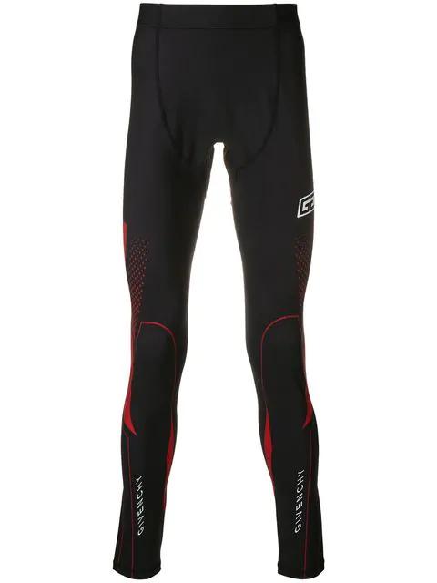 Givenchy Logo Cycling Leggings In Black