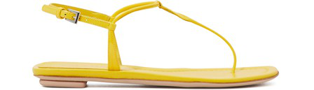 Prada Leather Thong Sandals In Giallo