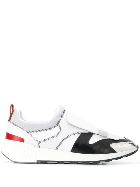 Sergio Rossi Sneakers Sr1 Leather And Fabric White Color