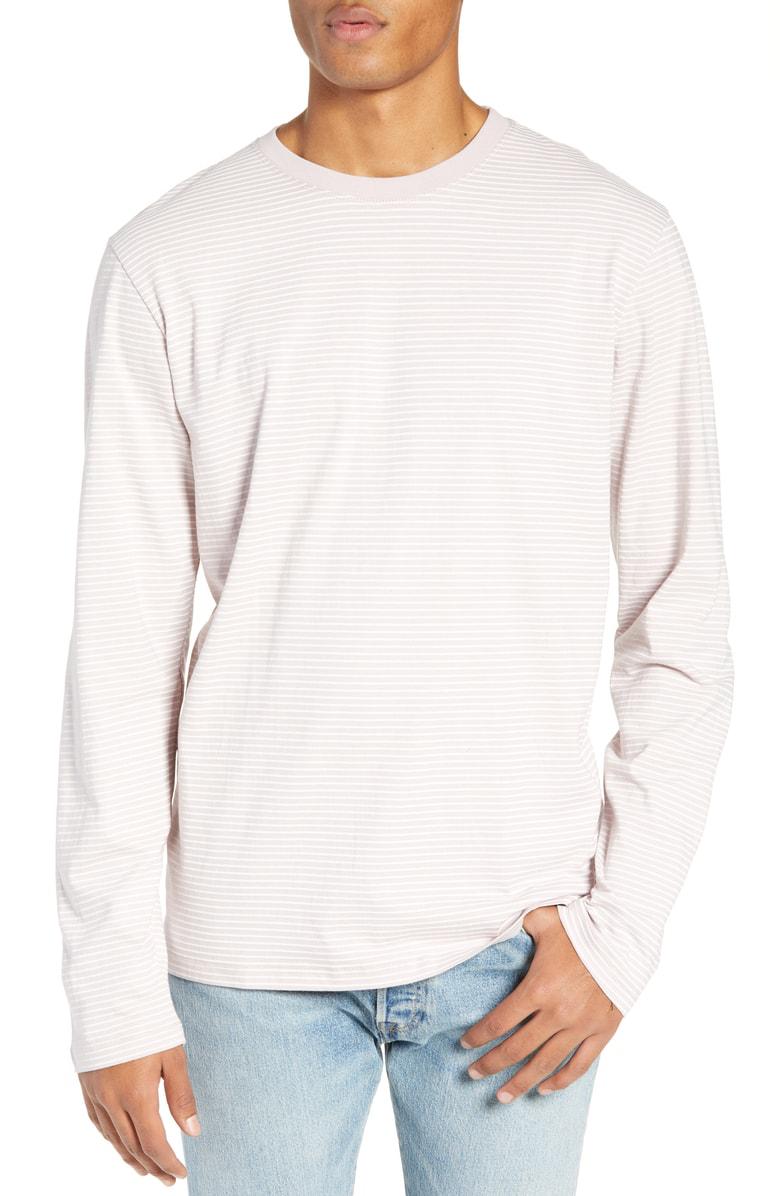 76e63e347e Vans Engineered Stripe Long Sleeve T-Shirt In Violet Ice