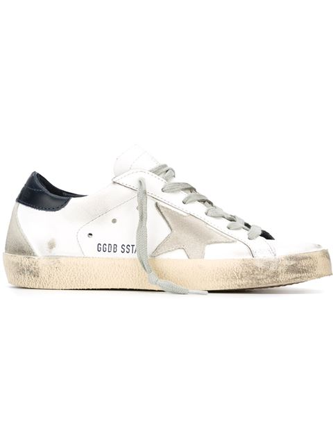 Golden Goose Sneakers In Wwhite Black Cream Metal Lettering