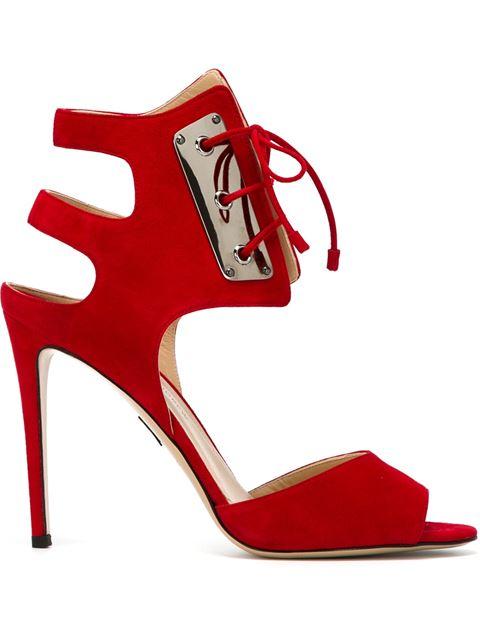 Paul Andrew 'La Guardia' Stiletto Sandals In Red