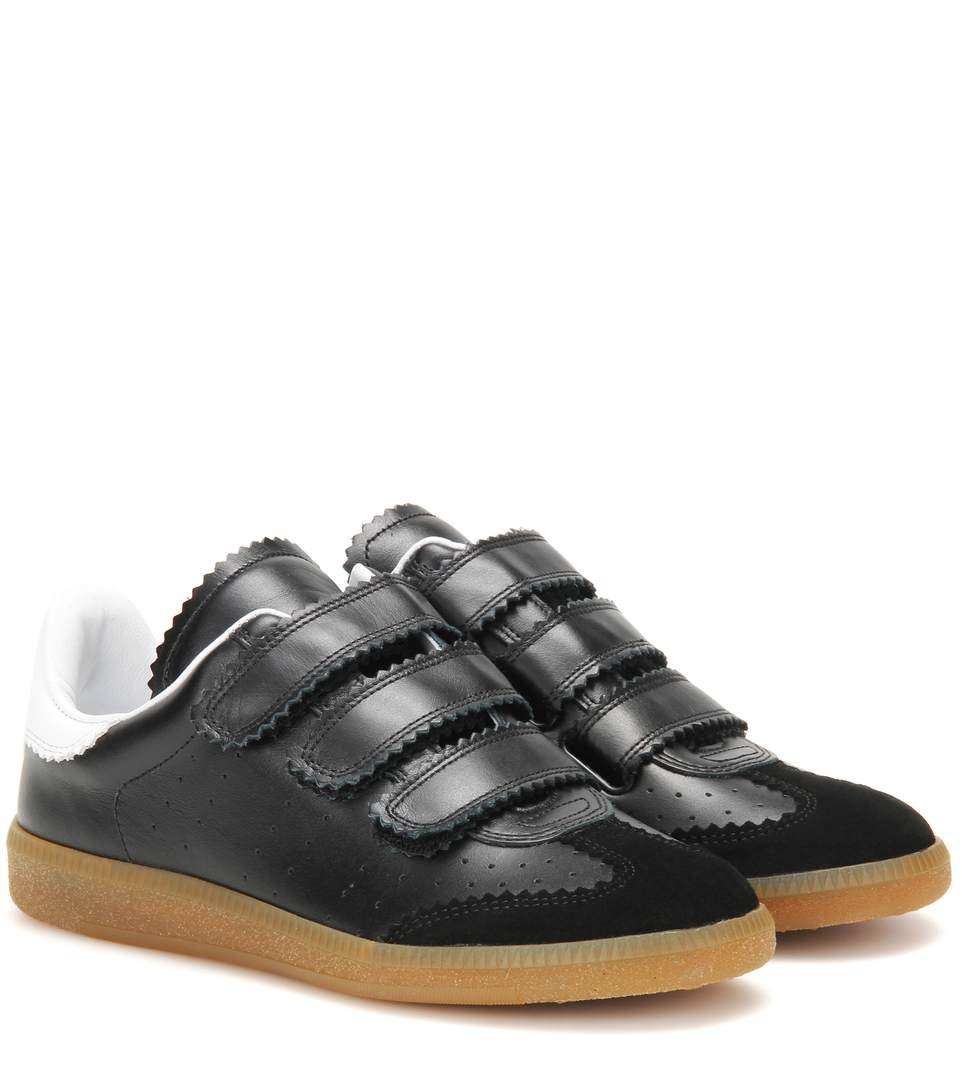 2ec59e1dc5 Isabel Marant ÉToile Beth Leather And Suede Sneakers In Llack | ModeSens