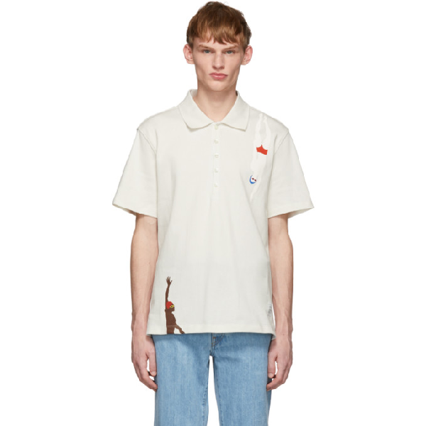 Thom Browne Swimmer-Print Cotton-Jersey T-Shirt In 100 White