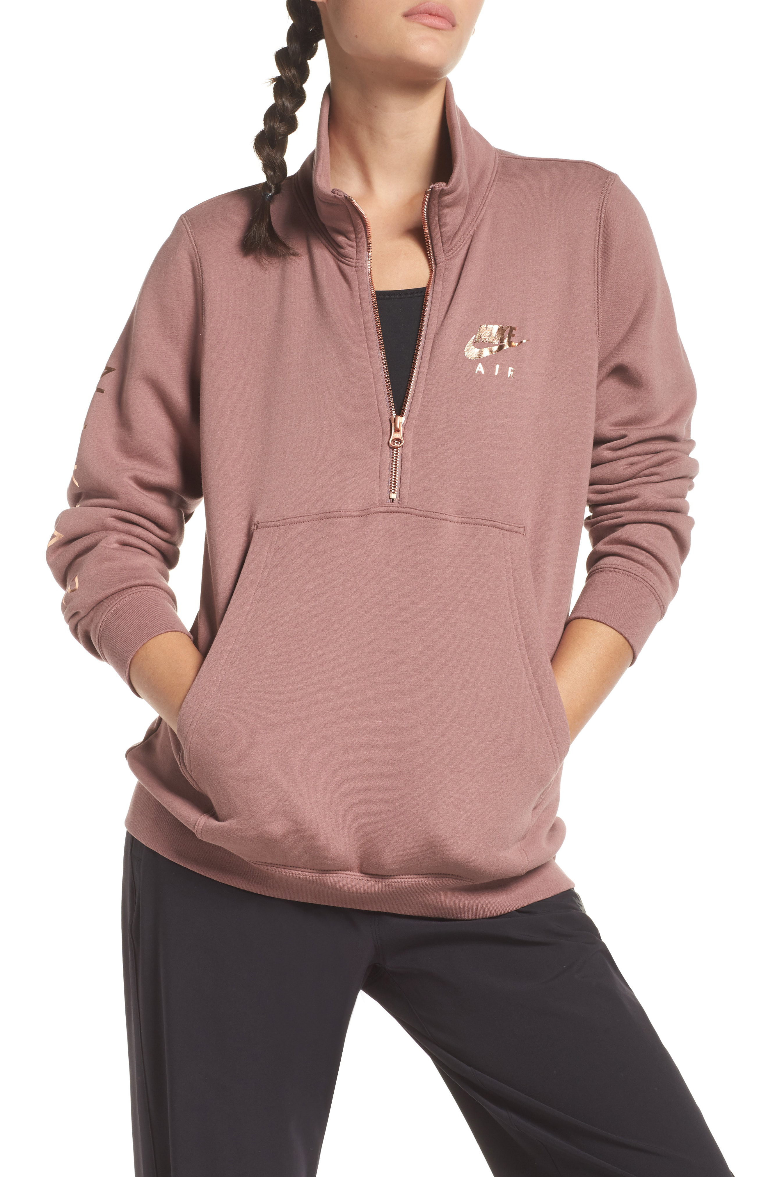 nike air sweatshirt mauve