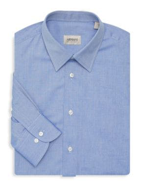 Giorgio Armani Classic Dress Shirt In Blue