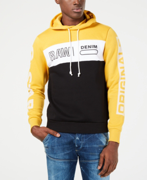 5b72dde968c G-Star Raw Men's Logo Colorblocked Hoodie, Created For Macy's In Saffron  White