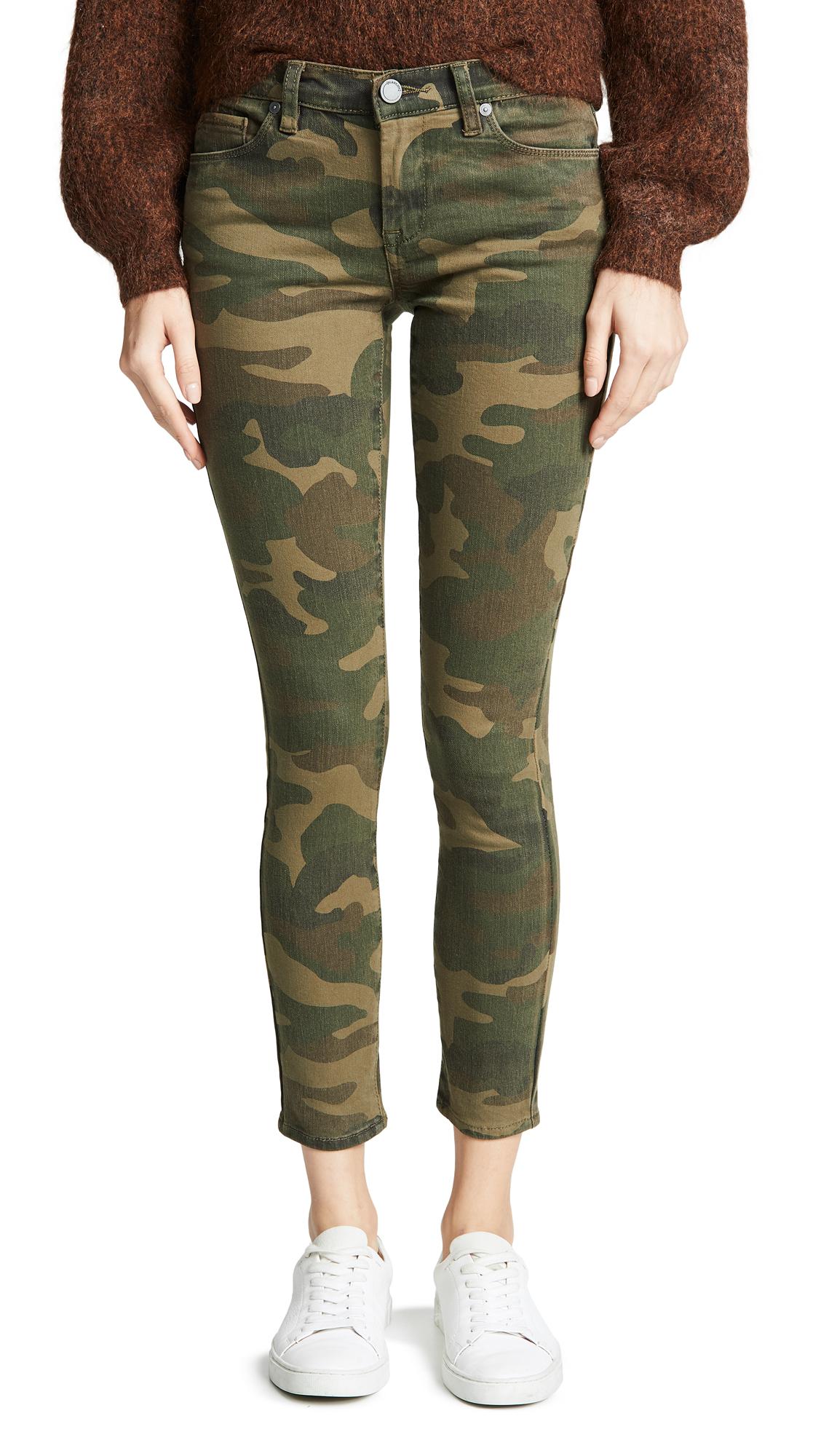 Blank Denim Camo Skinny Jeans In Scout