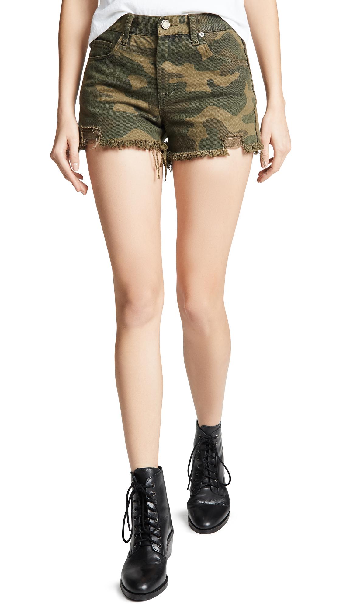 Blank Denim Cutoff Shorts In Army Of One