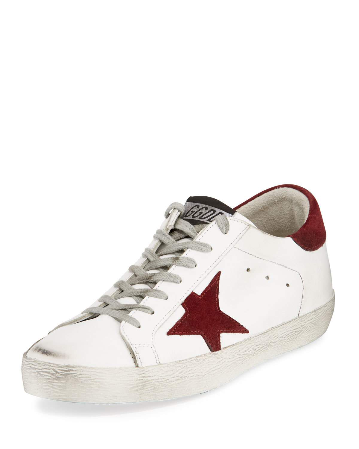 Golden Goose Men's Superstar Leather Low-Top Sneakers In White