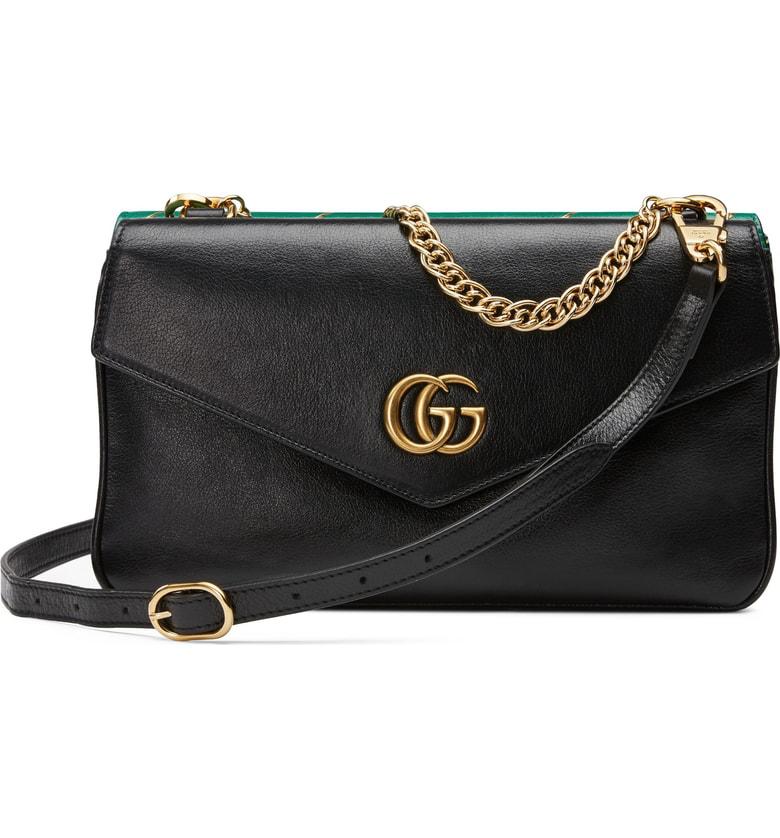 e8116e9f4868 Gucci Thiara Colorblock Leather Shoulder Bag In Nero/ Emerala Oro Multi