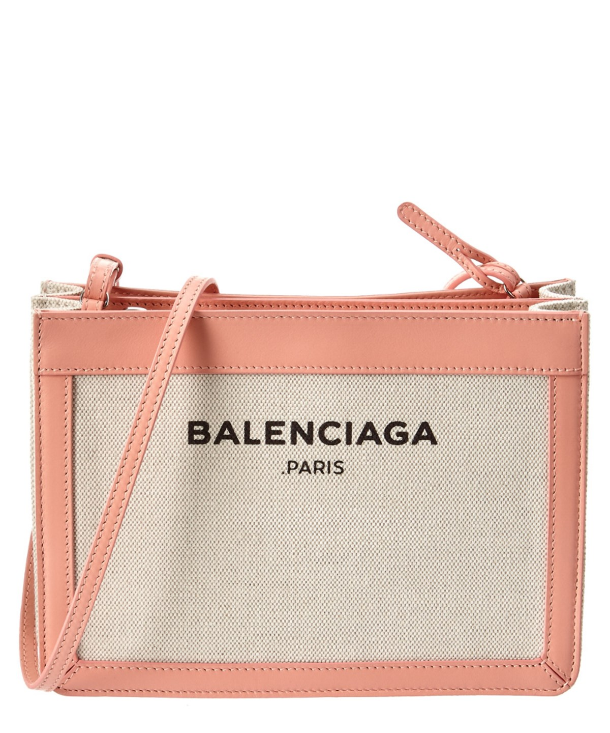 ed324a2df8 Balenciaga Navy Pochette S Canvas &Amp; Leather Clutch' In Pink ...