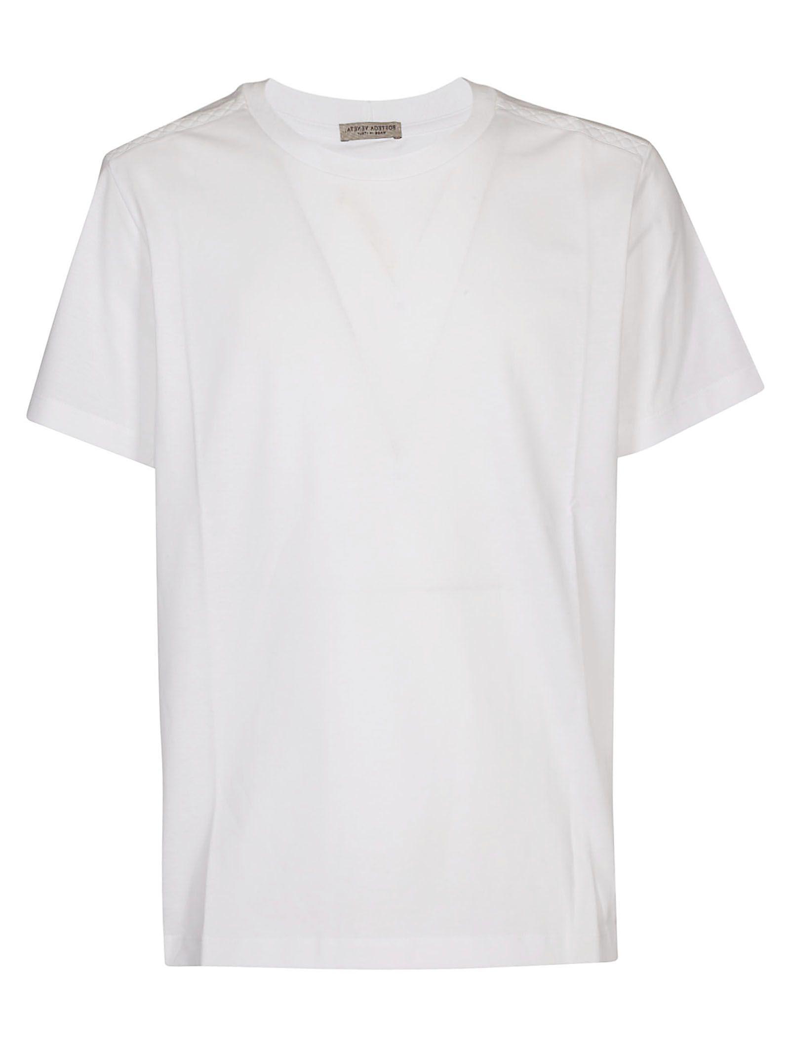 095b6d1448d6b Bottega Veneta Round Neck T-Shirt In White | ModeSens