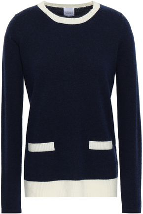 e0046622d802 Madeleine Thompson Woman Wool And Cashmere-Blend Sweater Navy