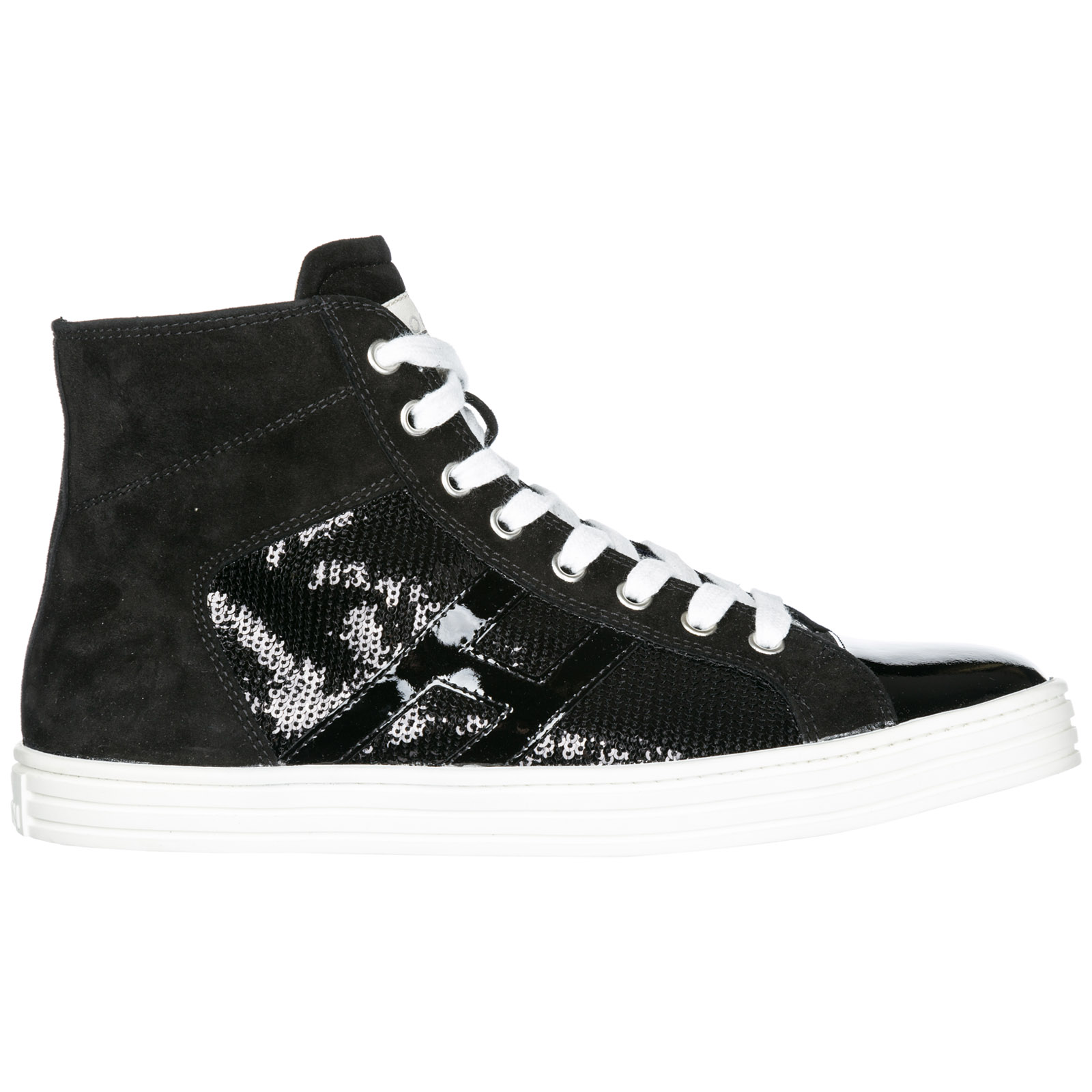 limited guantity low cost usa cheap sale Hogan Rebel Women's Shoes High Top Suede Trainers Sneakers R141 In ...
