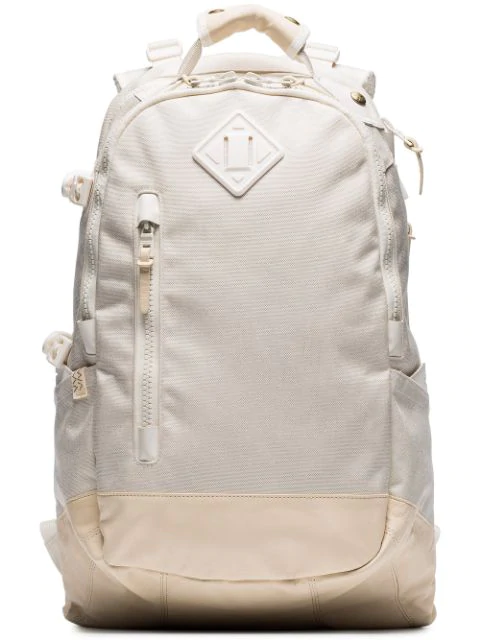 Visvim White Cordura 20l Leather Trim Backpack In Neutrals