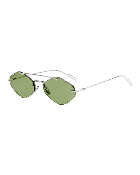41ec6be25eb6 Dior Men s Inclusion Rimless Mirrored Sunglasses In Light Green ...