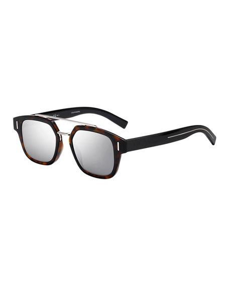 2ee5e0c7bb64b Dior Men s Square Metal-Trim Sunglasses In Medium Brown