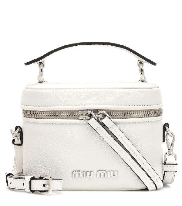 d8c123275f53 Miu Miu Small Leather Camera Bag In White