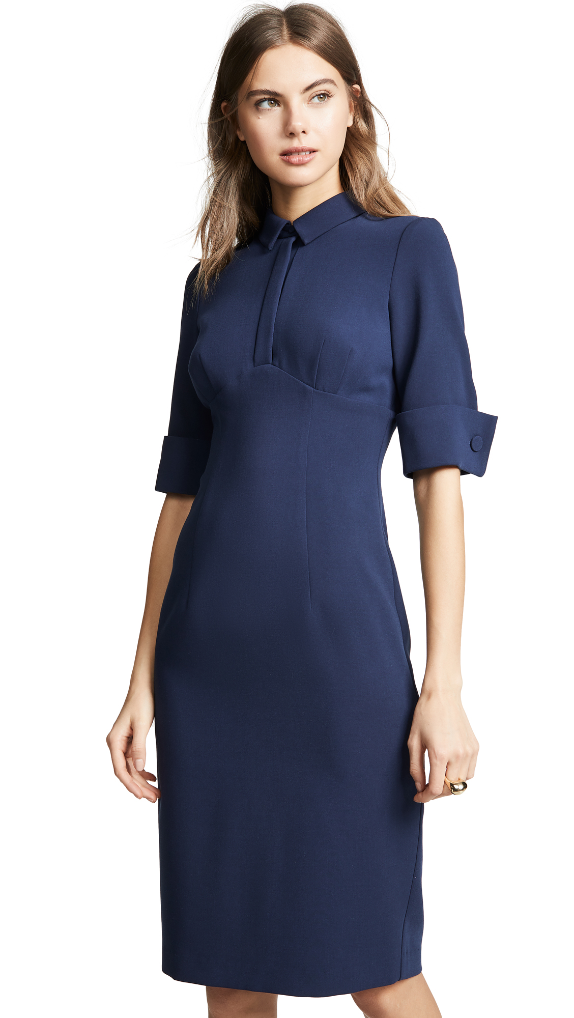 5ca108ed Black Halo Sonya Sheath Dress In Pacific Blue | ModeSens