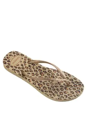 d9afdba7c75b Havaianas Slim Animal Flip Flops In Sand Grey Leopard | ModeSens