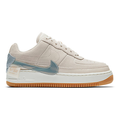 224f1b22a3c08 Nike Women's Air Force 1 Jester Low Casual Shoes, White/Grey   ModeSens