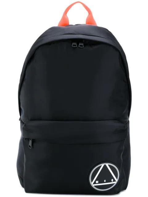 ad6db6762 Mcq By Alexander Mcqueen Mcq Alexander Mcqueen Black Oversized Glyph  Backpack