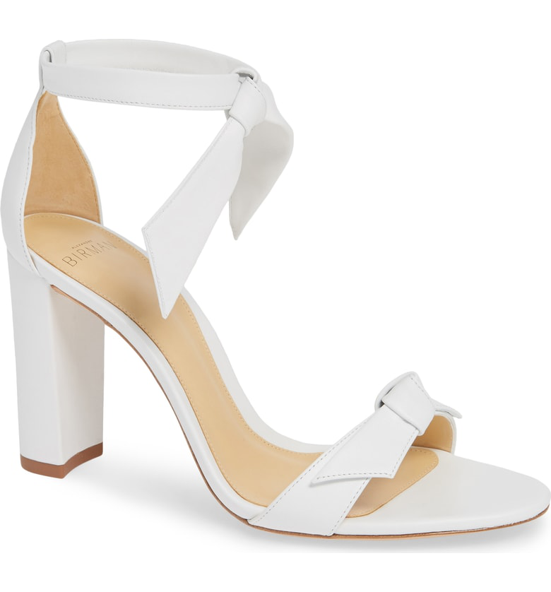 Alexandre Birman Clarita Knotted Sandal In White Leather